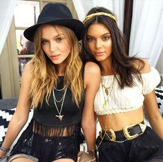 runwayandbeauty:  Josephine Skriver & Kendall Jenner - Coachella 2015.