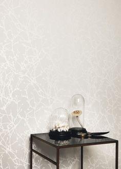 Papier peint Arbor Beads Wallcovering Gull Grey - Romo