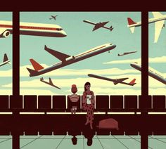 LA Times Travel Cover - Emiliano Ponzi