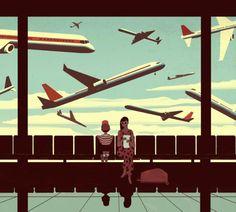 LA Times Travel Cover | Illustrator: Emiliano Ponzi
