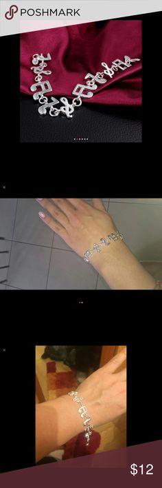 Music bracelet Silver plated music bracelet Jewelry Bracelets