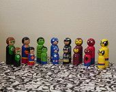 Big Super Hero Peg Dolls