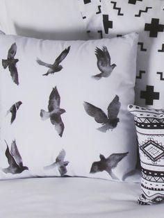 Birds Black&White cojín