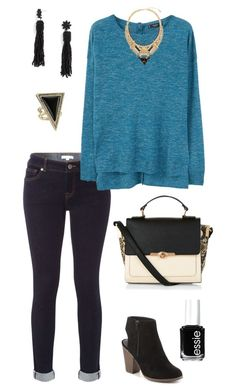 """""""Untitled #464"""" by kmysoccer on Polyvore featuring White Stuff, MANGO, Journee Collection, BaubleBar, Steve Madden, House of Harlow 1960, Accessorize and Essie"""