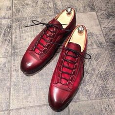 New Handmade leather shoes for men maroon color custom made leather shoes - Dress/Formal Me Too Shoes, Men's Shoes, Shoe Boots, Dress Shoes, Shoes Men, Handmade Leather Shoes, Leather Men, Dandy, Der Gentleman
