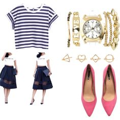 from day to night by tammy-chin on Polyvore featuring H&M, Express and Charlotte Russe
