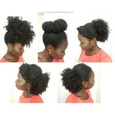 5 Simple Natural Hair Styles | Medium Length