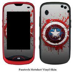 Captain America Pantech Hotshot Vinyl Skin #2