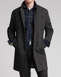Denim Jacket under Overcoat