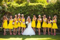 Yellow + Pink 60s Themed Wedding in Palm Springs | Images by Andy Rodriguez Photography | Via Modernly Wed | 17
