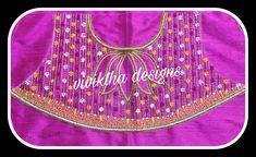 Simple Blouse Designs, Bridal Blouse Designs, Lotus Design, Work Blouse, Knot, Blouses, Fashion, Knots, Moda