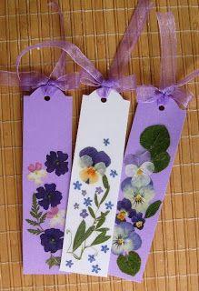 pressed flowers bookmarks handmade, diy