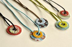 Mod Podge Washer Necklaces + more Mod Podge Jewelry Ideas!