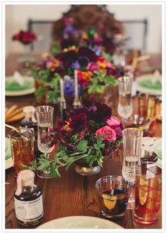 A tablescape fit for an elegant 60s inspired bridal shower