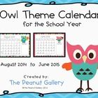 These owl theme calendars are perfect for the classroom. They could work well for behavior stars, homework stars, etc. or even to include in your o...