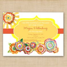 little sunshine baby shower invitation by by hellolovedesigns, $16.00