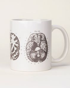 A mug to fuel your research and stimulate your synapses, this warm gray Anatomical Brain Mug is perfect for neuroscientists, psychologists, doctors and smarty pants of all kinds. Gift one to your favorite future doctor, anatomy professor, nursing student or MRI tech. This classic white and gray ceramic mug will proudly hold your morning coffee, afternoon tea, or mulled cider.  ………………………………………………………………………… ★★★★★ Ordering a gift? ★★★★★ Have it sent in a gift bag for just $5.95! To order, make…