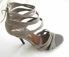 e25ad8d9943b Designer shoes Studio TMl strappy taupe 4.5 inch heels size7
