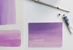 I love the washes of purple.