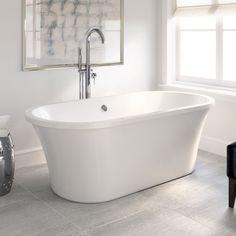 1700mm Modern Freestanding Designer Bathroom Bath Tub Gloss White BR250   eBay