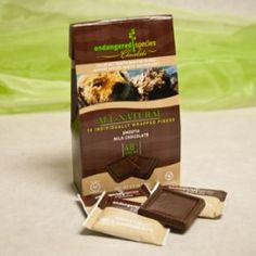 ALL-NATURAL SMOOTH MILK CHOCOLATE SQUARES (48% Cocoa Content)  Contains 10 individually-wrapped squares; the perfect size for satisfying chocolate cravings on-the-go. $3.29