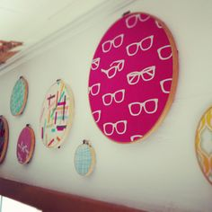 Embroidery hoop art - maybe over the kitchen