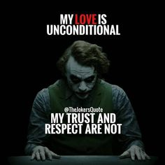 Trust and respect are earned , then observed closely , there are so many fakers out there !!! Massive 8