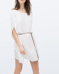 ZARA - COLLECTION AW15 - FULL TUNIC WITH PLAITED BELT