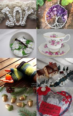 Gathering Gifts of the Season by Cozy on Etsy