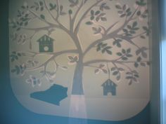 Tree Mural Tutorial - This exactly what i planned to do. proves no idea is original. Kids Bedroom Paint, Bird Theme, White Chalk, Mural Painting, Girl Blog, Cool Diy Projects, Tree Wall, Paint Designs, So Little Time