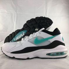 5e9d054e8f99 Nike Air Max 93 Dusty Cactus White Black Turquoise 306551-107 Men s 11