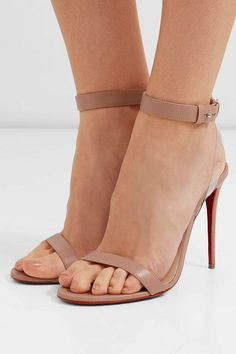 d8176788f626 Christian Louboutin Jonatina 100 Pvc-Trimmed Leather Sandals
