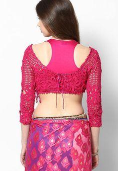Crochet Saree Blouse Pattern 7