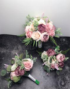 Rose Bridal Bouquet, Blush Bouquet, Bride Bouquets, Bridal Flowers, Bridesmaid Bouquets, Peonies Bouquet, Brooch Bouquets, Wedding Bridesmaids, Wedding Flower Bouquets