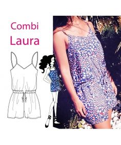 Patron Combishort Laura by Made in me couture