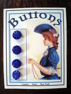 ButtonArtMuseum.com - antique Bohemian glass buttons from about 1910.
