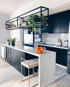 Kitchen Room Design, Kitchen Cabinet Design, Home Decor Kitchen, Interior Design Kitchen, New Kitchen, Home Kitchens, Interior Modern, Kitchen Ideas, Kitchen Cabinets