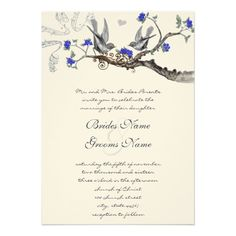 royal blue wedding invitations - Google Search