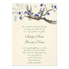 royal blue wedding invitations - Google Search