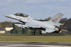 This Royal Norwegian Air Force F-16B Fighting Falcon was one of a pair deployed briefly to Lakenheath to conduct air-to-air training with the F-35s. Norway is one of the nations purchasing the F-35 and is set to take delivery of its first aircraft in-country later this year. Norway's fleet will be home-based at Orland. Photo:  Tony Osborne/AW&ST