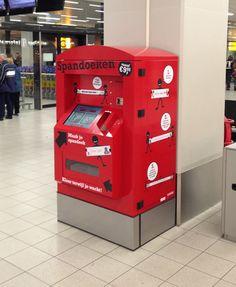 Leuk bedacht, zo'n spandoekenautomaat :-)