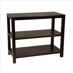 """Office Star MRG07-ESP Merge Foyer Entry Table, Espresso by Office Star. $163.70. Fabric / Finish: Espresso. Warranty: 1 Year. Dimensions: 36"""" W x 18"""" D x 30"""" H. Solid Wood Legs. Wood Veneers over MDF Top on Shelves. Finish:Espresso Avenue Six Merge Foyer Table  Wood veneers over MDF top on shelves Solid wood legs Espresso finish"""