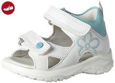 Ecco Baby Mädchen Peekaboo Sandalen, Weiß (59779WHITE/Aquatic), 22 EU - Ecco schuhe (*Partner-Link)
