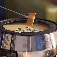 Nothing is better - or simpler - than classic Cheese Fondue. Everybody loves it and it feels a little fancier than just plain old cheese dip. Serve with cubed French bread, blanched broccoli or cauliflower, and sliced fresh fruit like pears or apples. Make it a party and have your guests bring their favorite dippers!