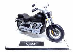 Harley Davidson Cake - Cake by House of Cakes Dubai Motorcycle Birthday Cakes, Motorcycle Cake, 40th Birthday Cakes, Harley Davidson Cake, Davidson Bike, Cakes In Dubai, Bike Cakes, Bicycle Illustration, Gravity Defying Cake