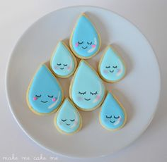 April Showers, Baby Showers! Sweet Little Raindrop Cookies