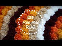 12 Easy tutorial for making no glue and knotting style pom pom rugs for your home. Making pom poms and how to attach it to non skid rug pad or rubber sheet. Pom Poms, Diy Pom Pom Rug, Pom Pom Wreath, Diy Carpet, Rugs On Carpet, Carpet Ideas, Stair Carpet, Hall Carpet, Faux Fur Area Rug