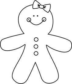 Black and White Gingerbread Girl