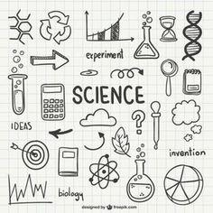 Science doodles for bullet journals Science Notebook Rubric, Science Notebook Cover, Science Notebooks, Notebook Covers, Bullet Journal Ideas Pages, Bullet Journal Inspiration, Doodle Drawings, Doodle Art, Notebook Labels