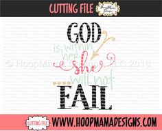 God Is Within Her She Will Not Fail SVG PNG DXF EPS
